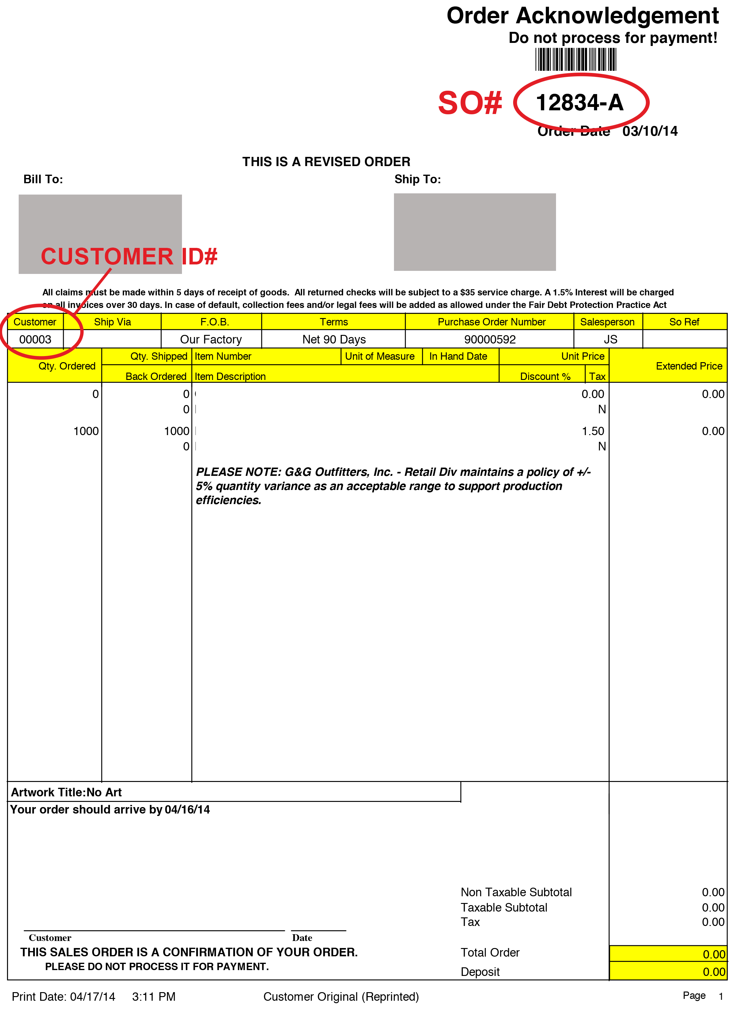 Invoice Payment Portal - Invoice number format